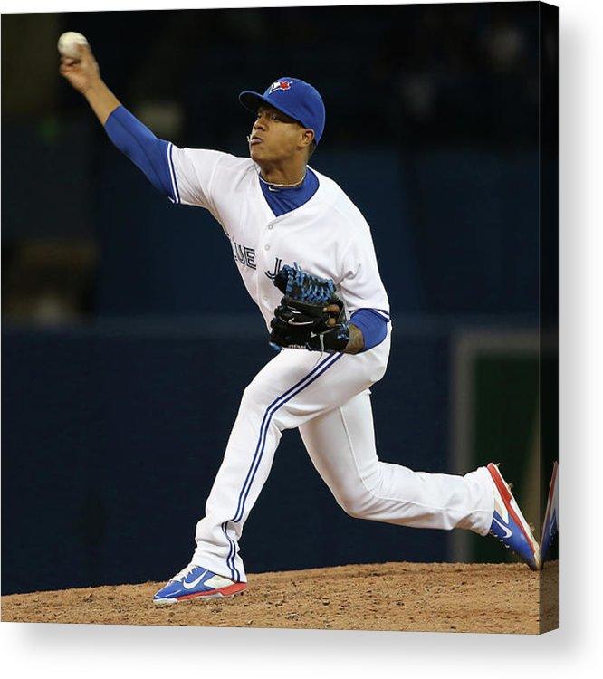 American League Baseball Acrylic Print featuring the photograph Marcus Stroman by Tom Szczerbowski