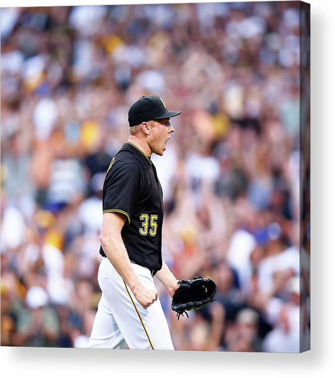Following Acrylic Print featuring the photograph Mark Melancon by Jared Wickerham