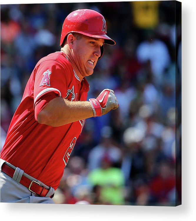 People Acrylic Print featuring the photograph Mike Trout by Maddie Meyer