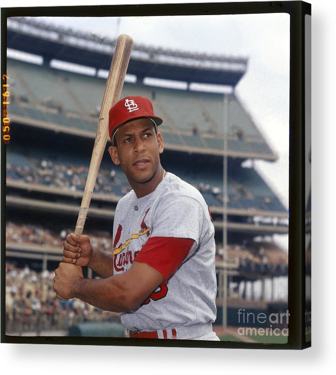 St. Louis Cardinals Acrylic Print featuring the photograph Orlando Cepeda by Louis Requena