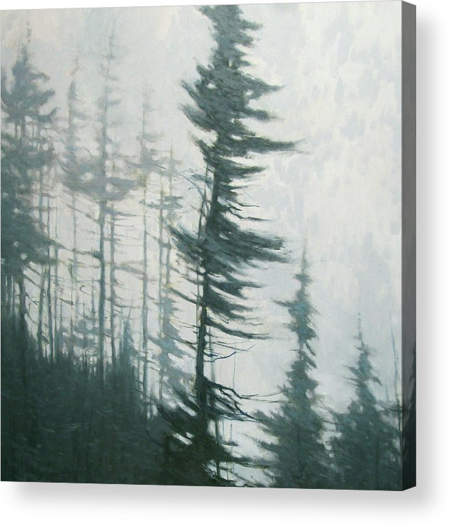 Acrylic Print featuring the painting Pine Portrait by Mary Jo Van Dell