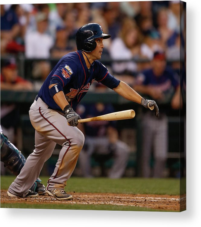 American League Baseball Acrylic Print featuring the photograph Sam Fuld by Otto Greule Jr