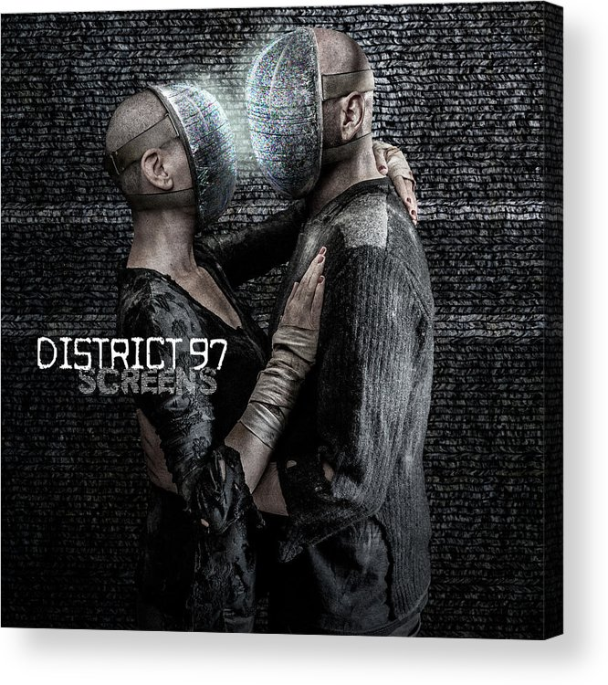 Acrylic Print featuring the digital art Screens by District 97