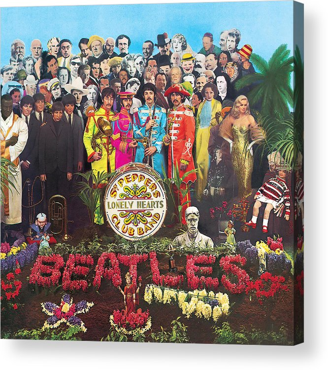 The Beatles Acrylic Print featuring the digital art Sgt. Pepper's Lonely Hearts Club Band by The Beatles by Music N Film Prints