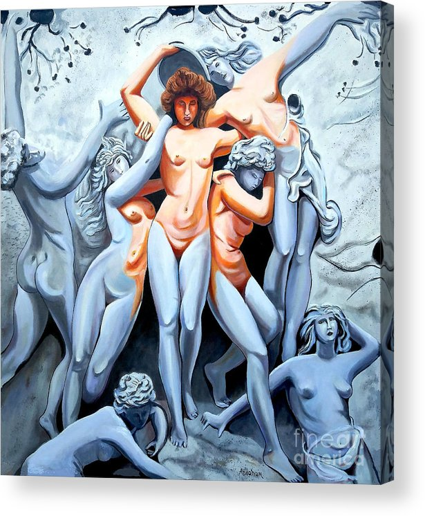 Statue Women Acrylic Print featuring the painting Statue 3 by Jose Manuel Abraham