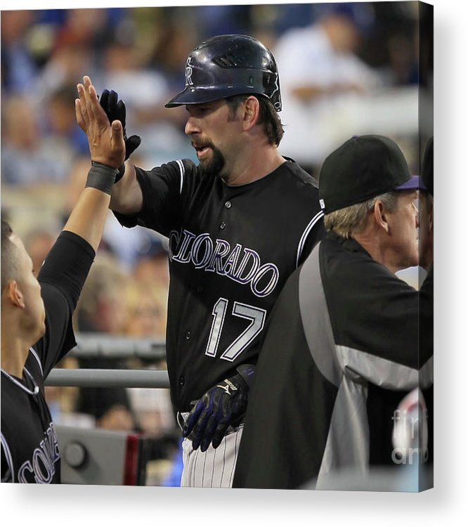 People Acrylic Print featuring the photograph Todd Helton by Jeff Gross