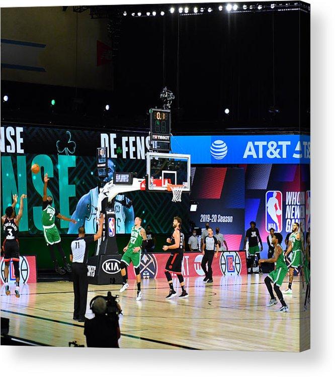 Acrylic Print featuring the photograph Toronto Raptors v Boston Celtics - Game Three by Jesse D. Garrabrant