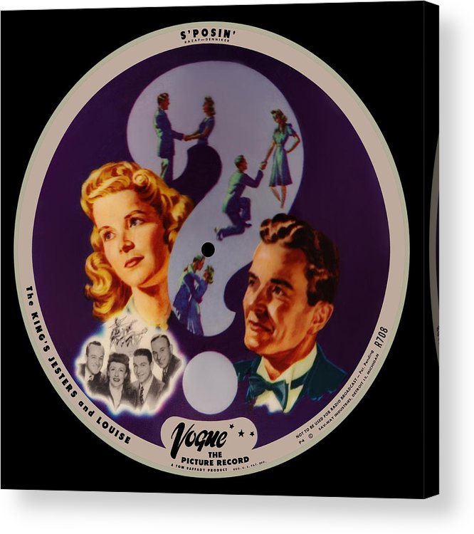 Vogue Picture Record Acrylic Print featuring the digital art Vogue Record Art - R 708 - P 4 - Square Version by John Robert Beck