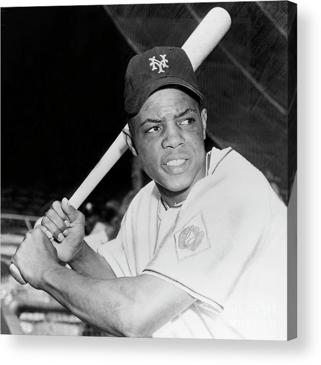 1950-1959 Acrylic Print featuring the photograph Willie Mays by National Baseball Hall Of Fame Library