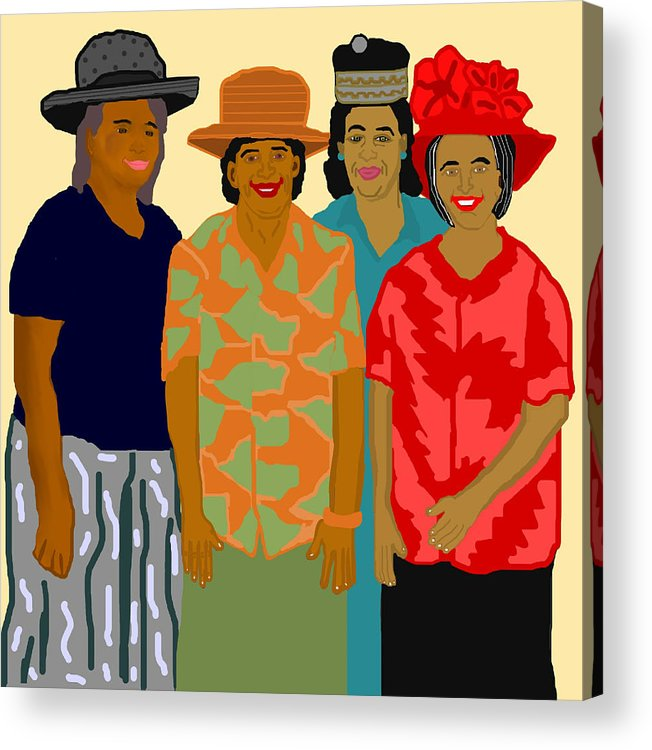 Women Acrylic Print featuring the painting Women of the Church by Pharris Art