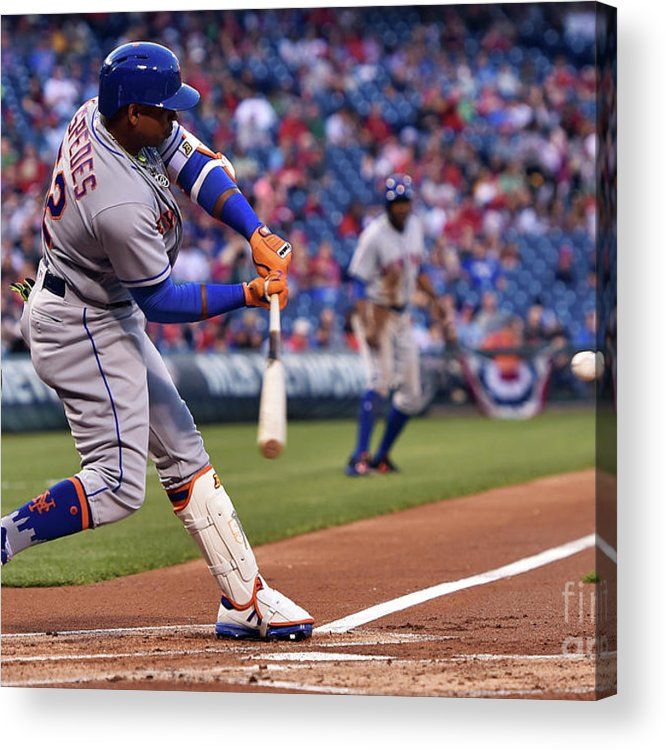 Yoenis Cespedes Acrylic Print featuring the photograph Yoenis Cespedes by Drew Hallowell