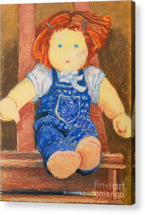 Baar Acrylic Print featuring the pastel Doll by Lutz Baar