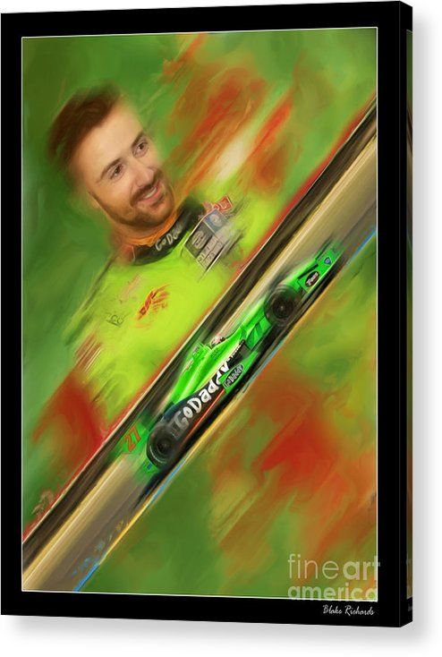 James Hinchcliffe Acrylic Print featuring the photograph James Hinchcliffe by Blake Richards