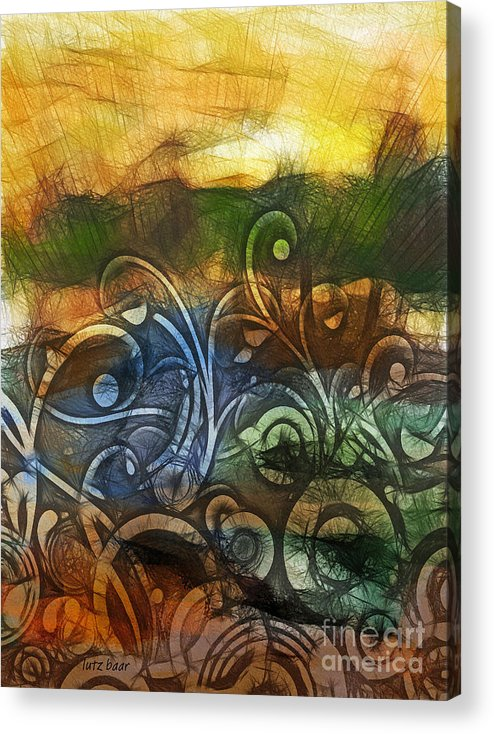 Baar Acrylic Print featuring the digital art Natures Awakening by Lutz Baar
