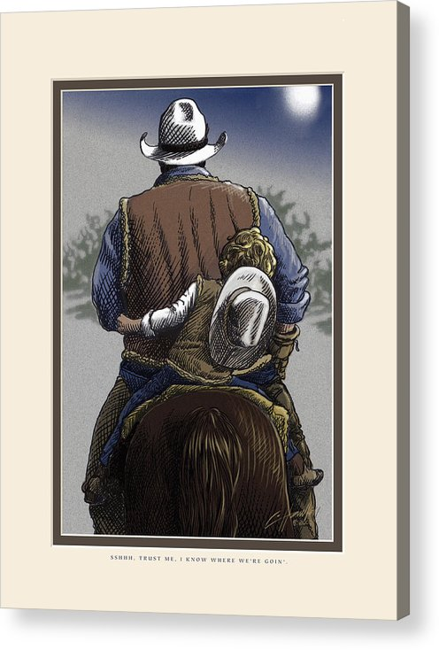 Inspirational Acrylic Print featuring the painting Wejesgotstatrust by Cliff Hawley