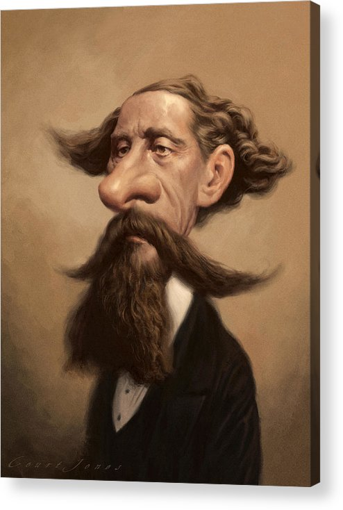 Charles Dickens Acrylic Print featuring the painting Charles Dickens by Court Jones