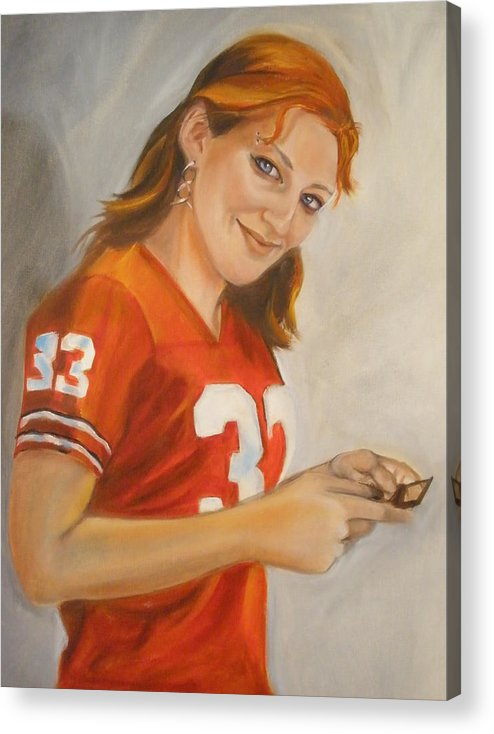 People Oil Portraits Acrylic Print featuring the painting Portrait Of Ellie by Kaytee Esser