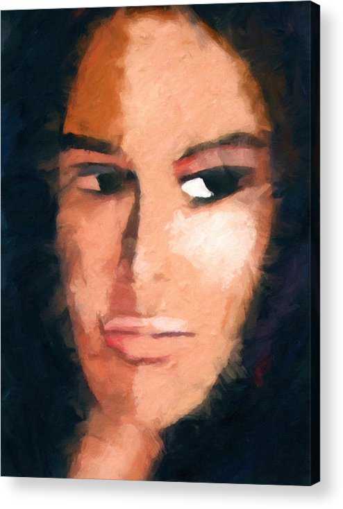 A Look Acrylic Print featuring the painting A Look by Lutz Baar