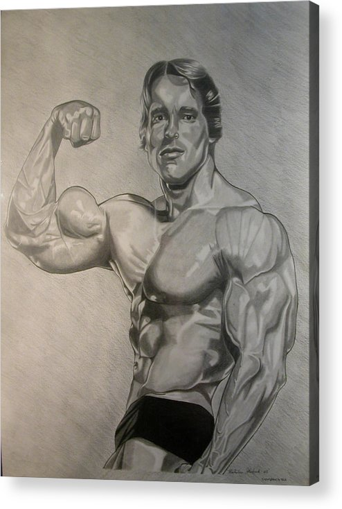 Pencil Acrylic Print featuring the drawing Arnold by Nick H