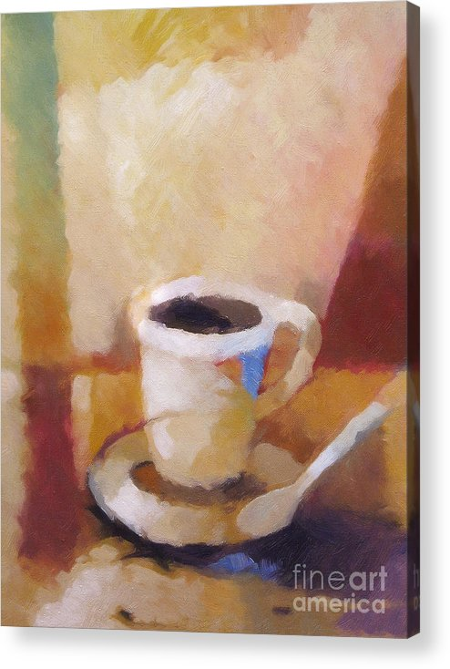 Coffee Acrylic Print featuring the painting Coffee by Lutz Baar