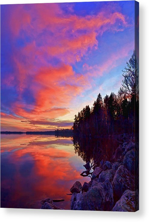 Nature Acrylic Print featuring the photograph Meddybemps Reflections 2 by ABeautifulSky Photography by Bill Caldwell
