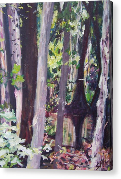Landscape Acrylic Print featuring the painting Reflections by Sheila Holland