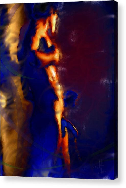 God Acrylic Print featuring the digital art Showered By Mars Virility by Stephen Lucas