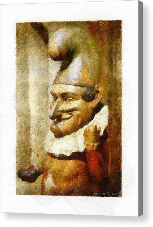 Digital Acrylic Print featuring the photograph The Jester by Ron Alderfer