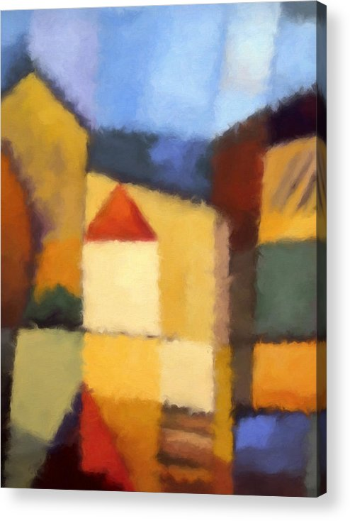 Abstract Painting Acrylic Print featuring the painting Urban Abstract by Lutz Baar