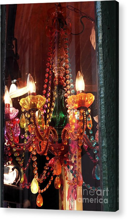 New Orleans Acrylic Print featuring the photograph Chandelier by John Rizzuto