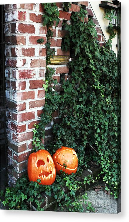 Two Pumpkins Acrylic Print featuring the photograph Two Pumpkins by John Rizzuto