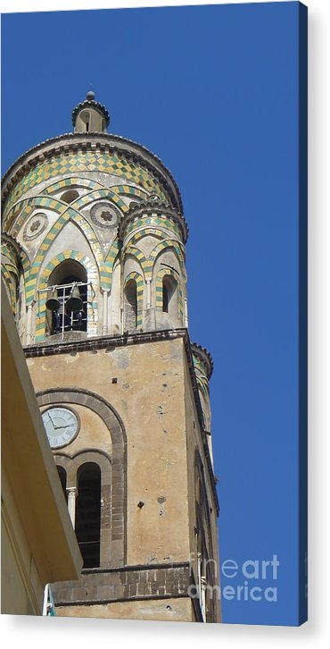 Acrylic Print featuring the photograph Five To Three In Amalfi by Nora Boghossian