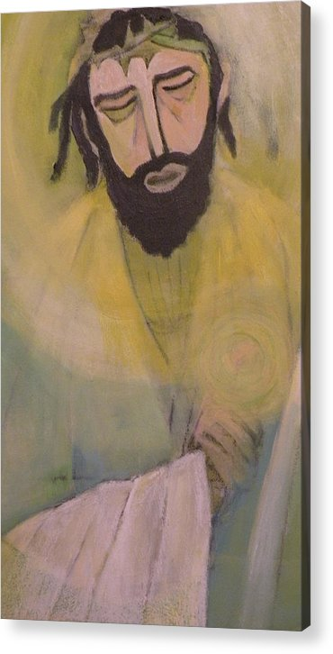 Portrait Acrylic Print featuring the painting Mesiah by Robert Daniels