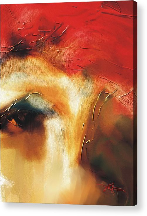 Abstract Acrylic Print featuring the painting Ambiguity by Bob Salo