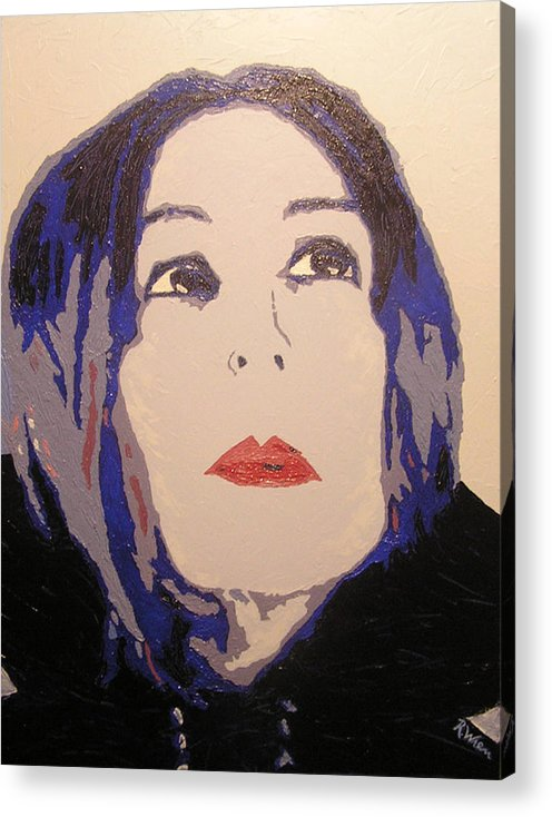 Portrait Acrylic Print featuring the painting Beauty Beyond The Blue by Ricklene Wren