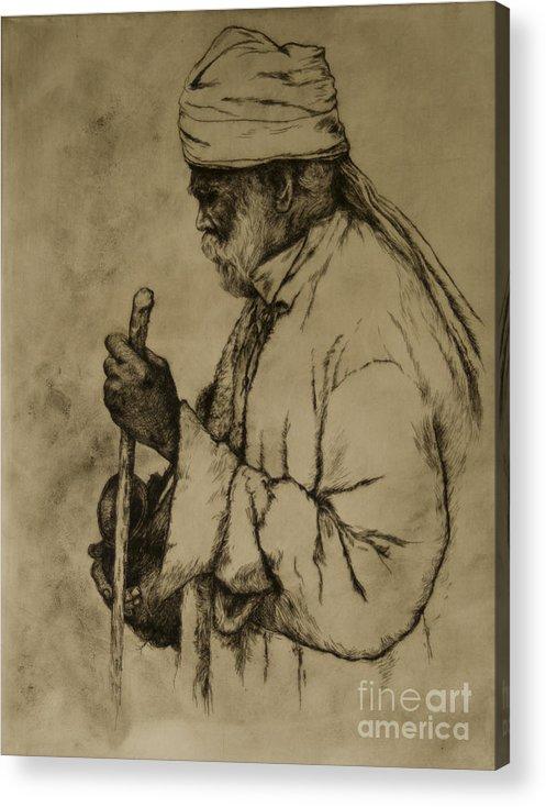 Goa Acrylic Print featuring the print Pilgrim by Tim Thorpe