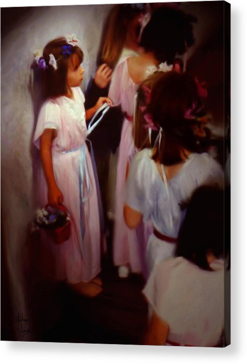 Children Acrylic Print featuring the painting The Fisrt May Day Dance by Stephen Lucas