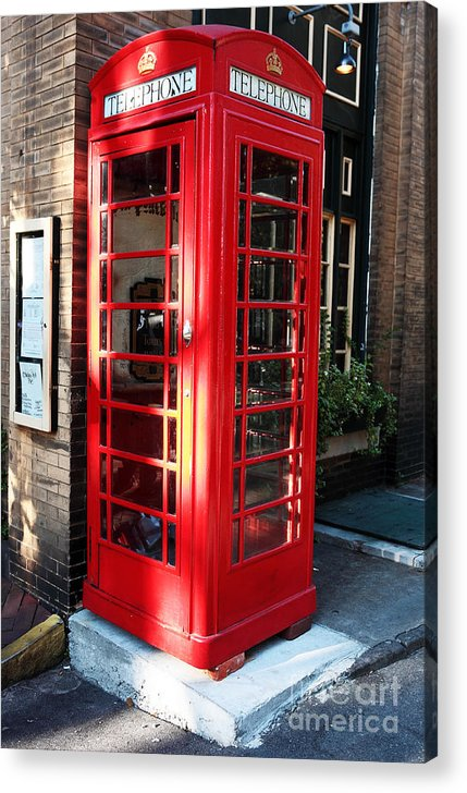 Savannah Acrylic Print featuring the photograph Telephone by John Rizzuto
