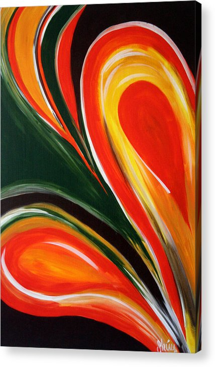 Abstract Paintings Acrylic Print featuring the painting Earthly Desire by Shiree Gilmore