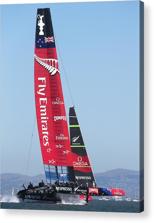 America's Cup Acrylic Print featuring the photograph America's Cup Emirates Team New Zealand by Steven Lapkin
