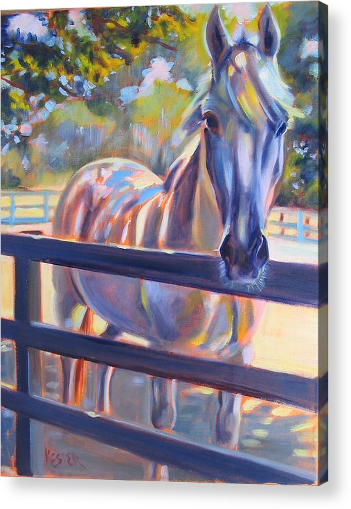 Horse Acrylic Print featuring the painting Hot And Humid by Kaytee Esser
