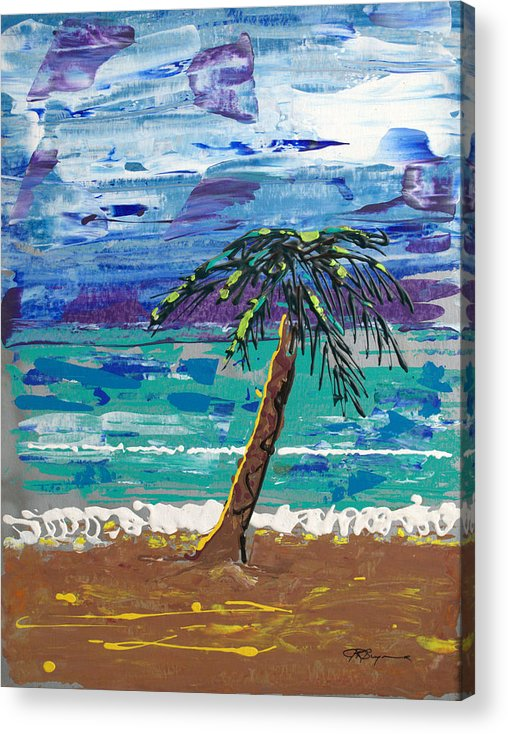 Palm Tree Acrylic Print featuring the painting Palm Beach by J R Seymour