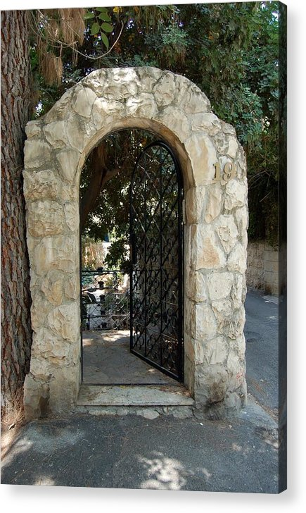 Gate Acrylic Print featuring the photograph Gate In Rehavia I by Susan Heller