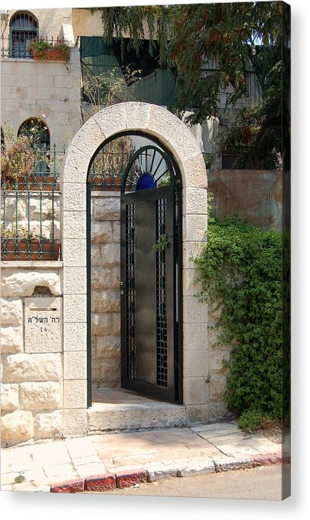 Israel Acrylic Print featuring the photograph Gate In Rehavia II by Susan Heller