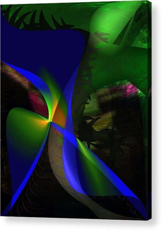 Contemporary Acrylic Print featuring the painting A Dream by Gerlinde Keating - Galleria GK Keating Associates Inc