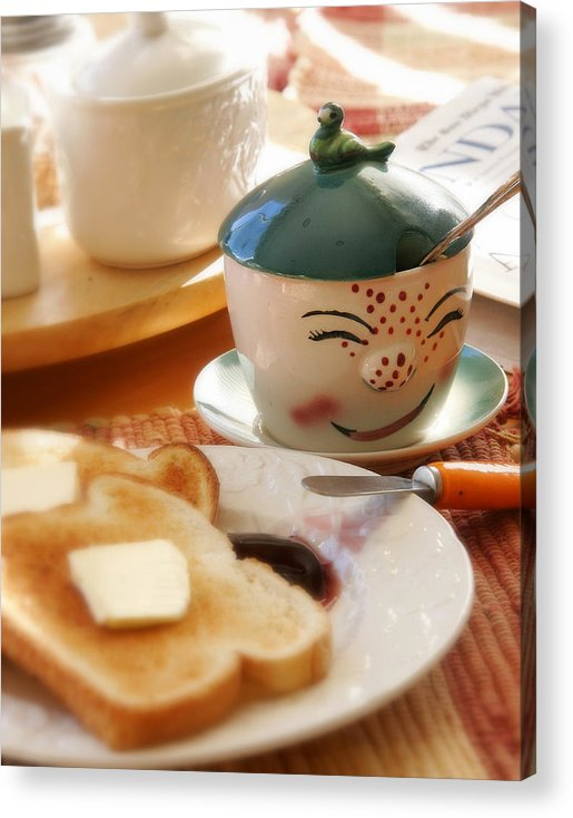 Still Life Acrylic Print featuring the photograph Sunday Morning Jelly Jar by Peter Tellone