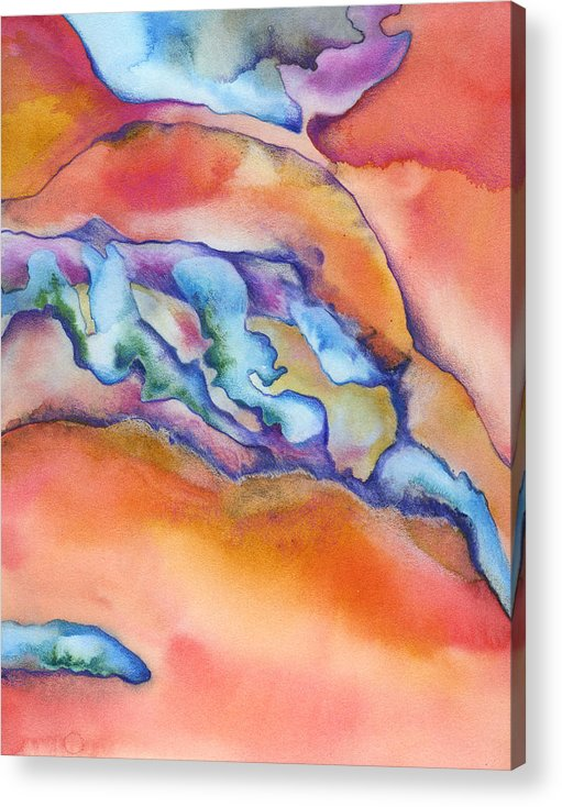 Absract Acrylic Print featuring the painting Abstract 1 by Mindy Lighthipe
