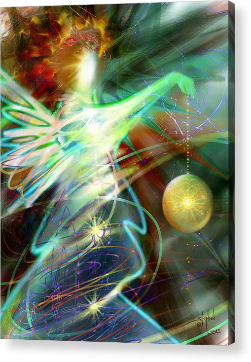 Angel Acrylic Print featuring the digital art Lite Brought Forth By The Archkeeper by Stephen Lucas