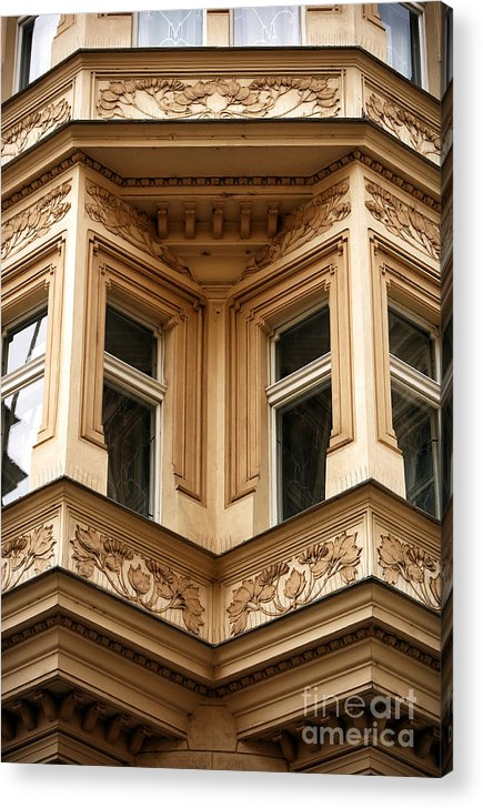Angled Windows Acrylic Print featuring the photograph Angled Windows by John Rizzuto