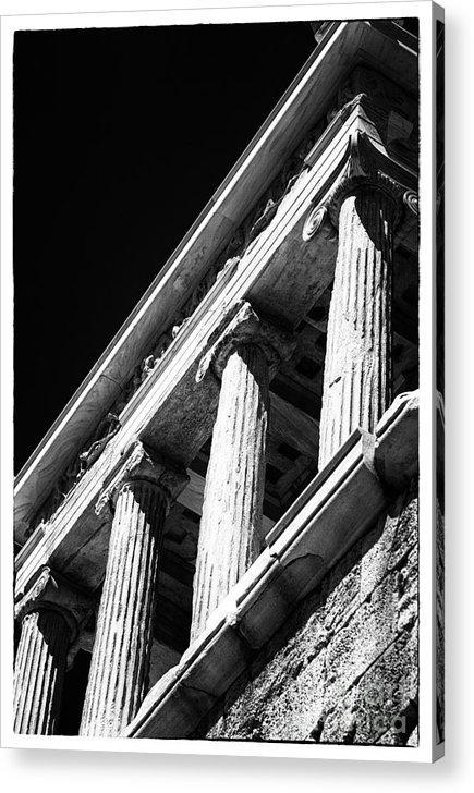 Greek Columns Acrylic Print featuring the photograph Greek Columns by John Rizzuto